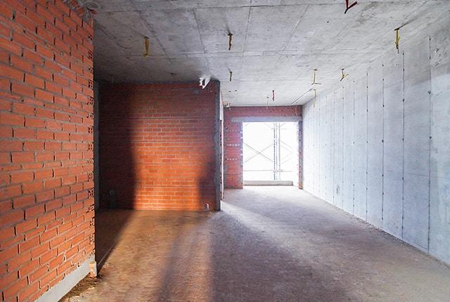 Xây tường căn hộ từ tầng 5 đến tầng 10 block Mecury và block Uranus