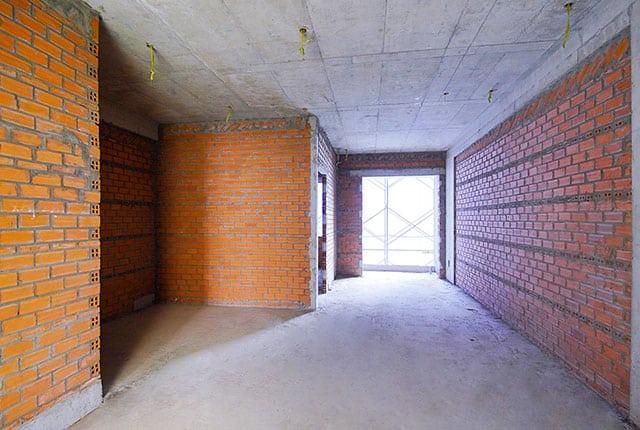 Xây tường căn hộ từ tầng 5 đến tầng 27 block Mecury và block Uranus
