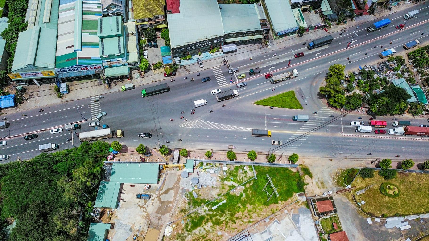 Hình thực tế dự án Lavita Thuận An nhìn từ trên xuống