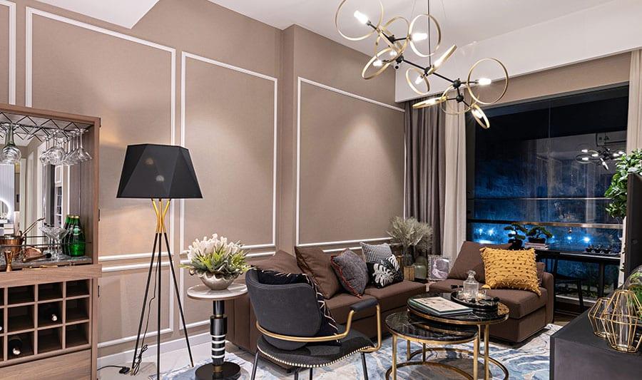 Căn hộ mẫu Lavita Thuận An phòng khách