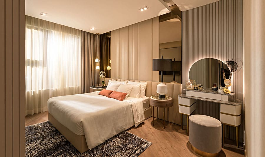 Căn hộ mẫu Lavita Thuận An phòng ngủ