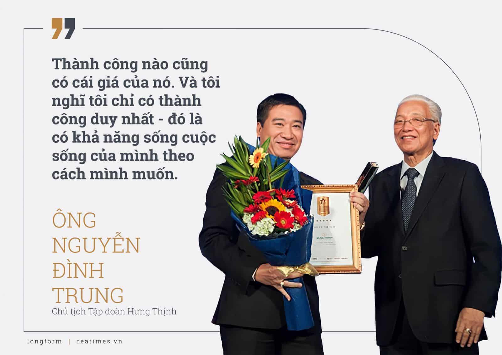 Chủ tịch tập đoàn Hưng Thịnh ông Nguyễn Đình Trung