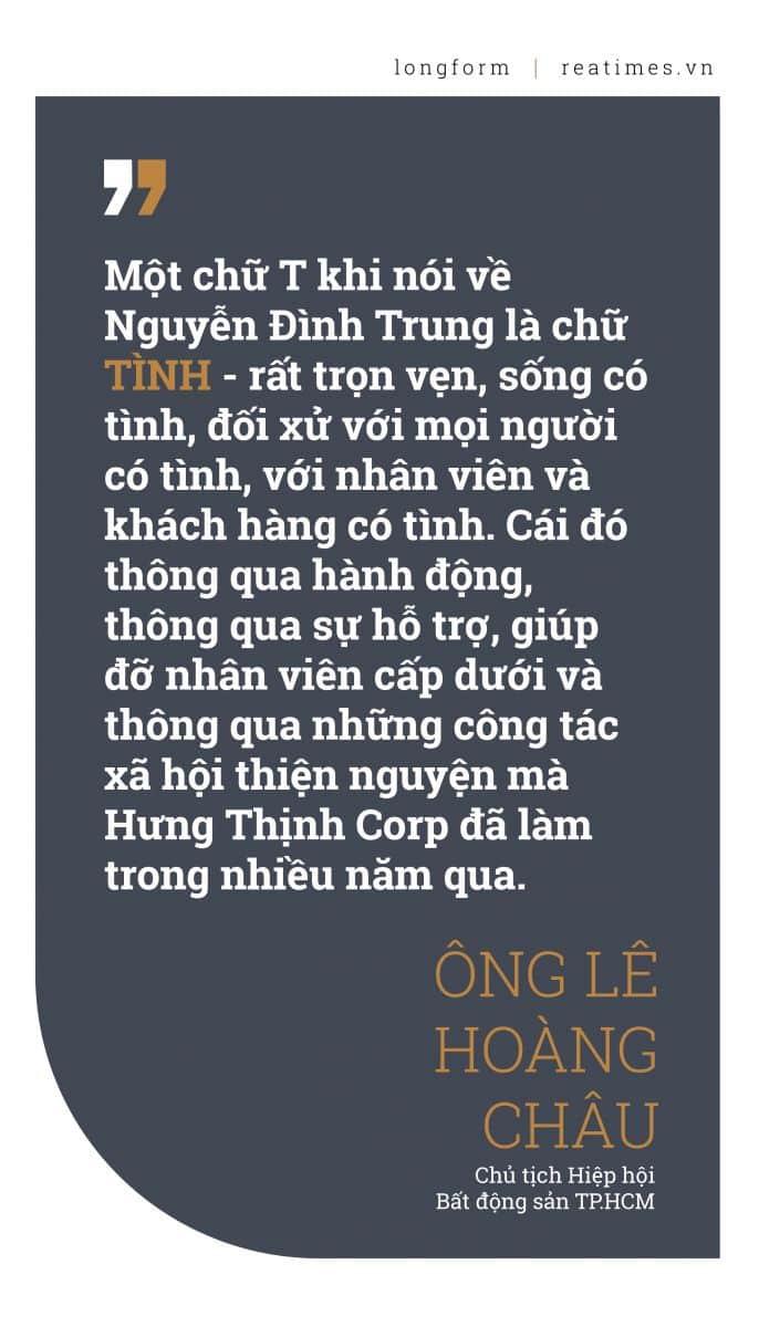 Chữ T khi nói về doanh nhân Nguyễn Đình Trung