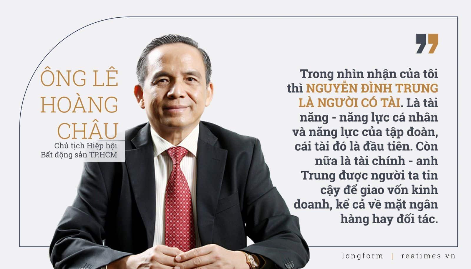 Ông Lê Hoàng Châu chủ tịch hiệp hội Bất động sản TP.HCM