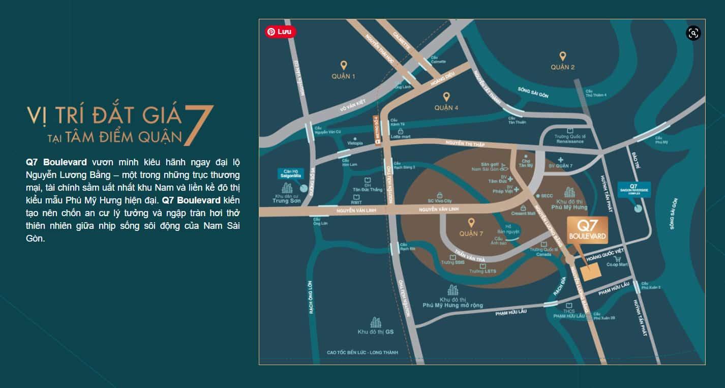 Vị trí dự án Q7 Boulevard